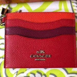 Red Coach wallet cardholder